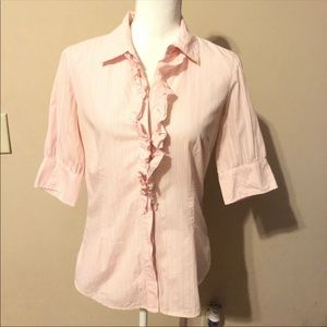 ⭐️3for$25 Lilly Pulitzer RufflesButton Down Blouse